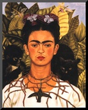 Portrait with Necklace Reproduction montée par Frida Kahlo
