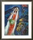 La mariée Reproduction encadrée par Marc Chagall