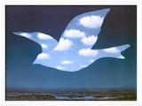 La Promesse Reproduction encadrée par Rene Magritte