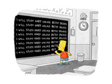 """I will study hard unlike Betsy DeVos"" - Cartoon"