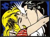 Kiss II, c.1962 Reproduction encadrée par Roy Lichtenstein