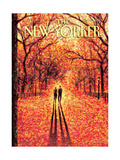 Autumn in Central Park - The New Yorker Cover  November 9  2009