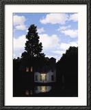 L'empire des lumières Reproduction encadrée par Rene Magritte