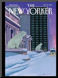 Polar Bears on Fifth Avenue - The New Yorker Cover  January 13  2014