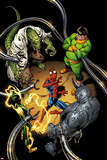 The Clone Conspiracy 1 Variant Cover Art Featuring Lizard  Electro  Spider-Man  Rhino & More