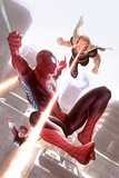 Squadron Supreme 11 Cover Art Featuring Hyperion  Spider-Man  Doctor Spectrum