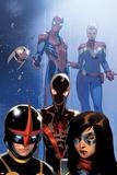 Spider-Man 8 Panel Featuring Spider-Man  Captain Marvel  Nova  Ms Marvel (Kamala Khan)  & More
