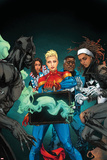 Ultimates 10 Cover Art Featuring Black Panther  Miss America  Captain Marvel  Blue Marvel & More