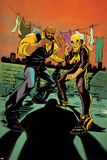 Marvel Knights Cover Art Featuring Iron Fist  Luke Cage