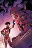 Invincible Iron Man 1 Variant Cover Art Featuring Ironheart  Riri Williams  Iron Man