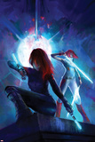 Ms Marvel 12 Variant Cover Art Featuring Black Widow  Red Widow