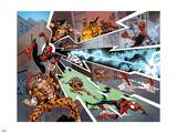 Spidey 9 Panel Featuring Spider-Man  Kraven the Hunter