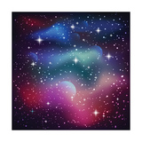 Cosmic Galaxy Background with Sparkling Stars  Stardust and Planets Eps 10
