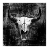 Black Cowskull Reproduction d'art par GraphINC