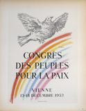 Congres des Peuples Pour la Paix Reproduction pour collectionneurs par Pablo Picasso