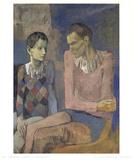 Acrobat and Young Harlequin Reproduction pour collectionneurs par Pablo Picasso