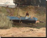Boat on beach  Queenscliff