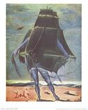 Le Bateau Reproduction d'art par Salvador Dali
