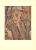 Leaning Harlequin Reproduction d'art par Pablo Picasso
