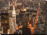 Aerial view of Manhattan with Flatiron Building  NYC