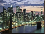 Brookyn bridge and Downtown skyline  NYC