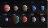 Artist Impression of Hot Jupiter Exoplanets - Annotated