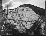Boulder with hill in background  Rocks at Silver Gate  Yellowstone National Park  Wyoming  ca 1941