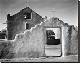 Full side view of entrance with gate to the right  Church  Taos Pueblo National Historic Landmark