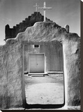 Front view of entrance  Church  Taos Pueblo National Historic Landmark  New Mexico  1942