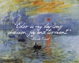 Monet Quote Impression Sunrise