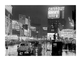 Times Square at night  NYC  1951