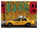 Taxi and mural painting  NYC