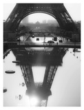 The Eiffel tower reflected  Paris