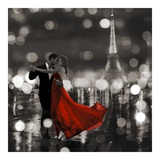 Midnight in Paris (BW) Giclée par Dianne Loumer