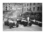 Le depart du Grand Prix de Monaco 1932