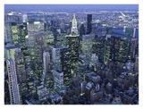 Manhattan skyline at dusk  NYC