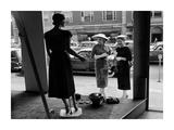 Women looking at window display