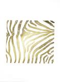 Gold Foil Zebra Pattern on White