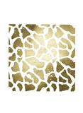 Gold Foil Giraffe Pattern on White