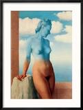 La Magie Noire Reproduction encadrée par Rene Magritte