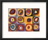 Farbstudie Quadrate Reproduction encadrée par Wassily Kandinsky