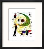 Lune Verte Reproduction encadrée par Joan Miró