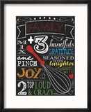 Chalkboard Kitchen Art 2 Reproduction encadrée par Melody Hogan