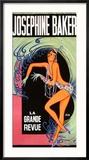 Josephine Baker Reproduction giclée encadrée par Zig (Louis Gaudin)