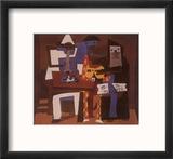 Three Musicians, c.1921 Reproduction encadrée par Pablo Picasso