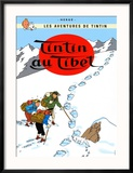 Tintin au Tibet, c.1960 Reproduction encadrée par Hergé (Georges Rémi)