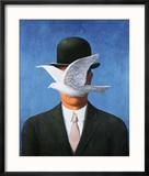 L'Homme au Chapeau Melon, c.1964 Reproduction encadrée par Rene Magritte
