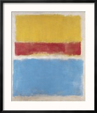 Untitled (Yellow, Red and Blue), c.1953 Reproduction encadrée par Mark Rothko