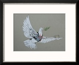 Dove Reproduction encadrée par Banksy