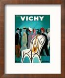 Vichy, France - Resorts and Spas - May through October (Mai-Octobre) Reproduction encadrée par Bernard Villemot